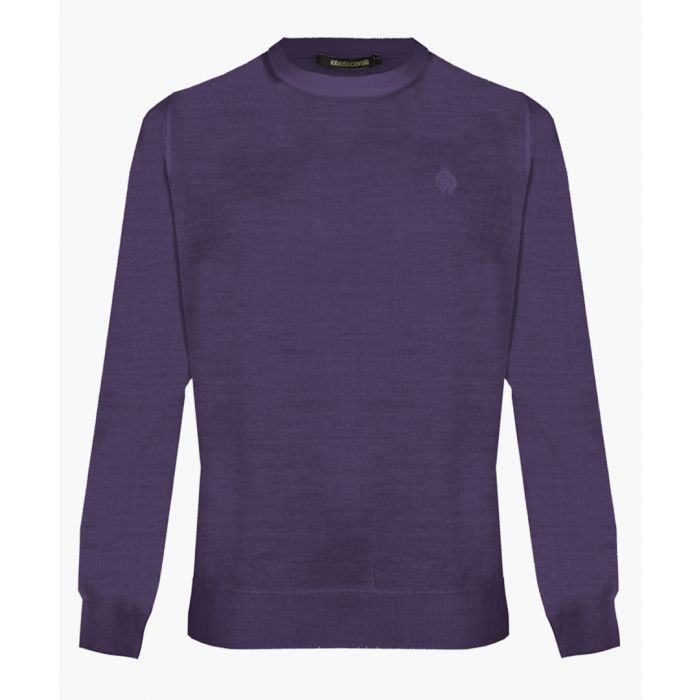 Image for Purple pure wool jumper