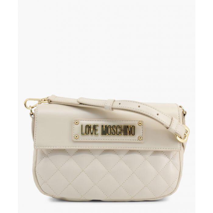 Image for White faux-leather crossbody