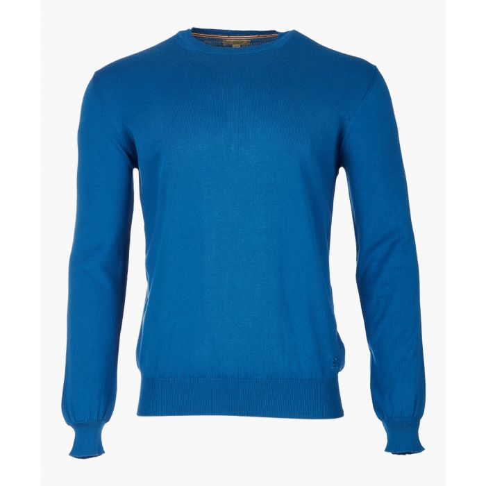 Image for blue pure cotton jumper