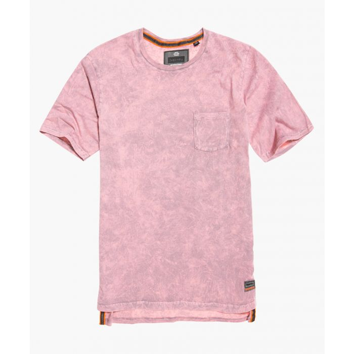 Image for Hoxton pink pure cotton washed-out longline T-shirt