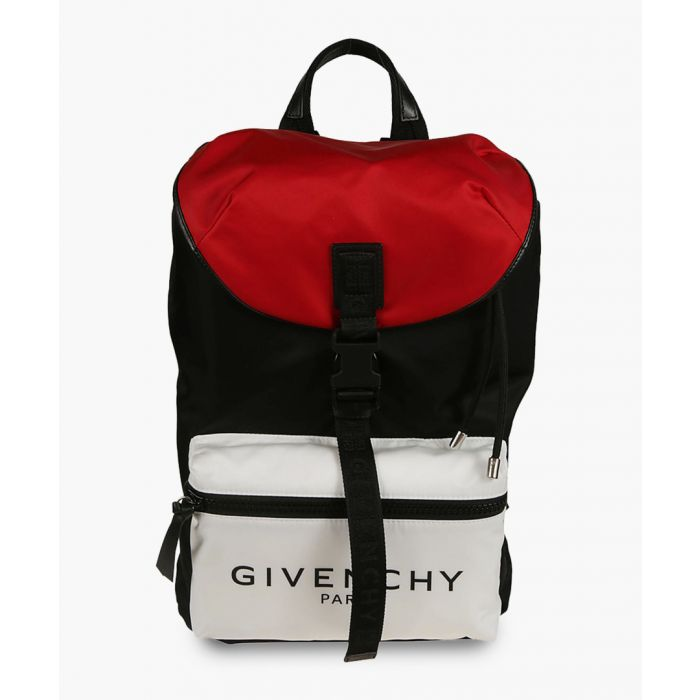 Image for givenchy paris tricolor backpack in nylon