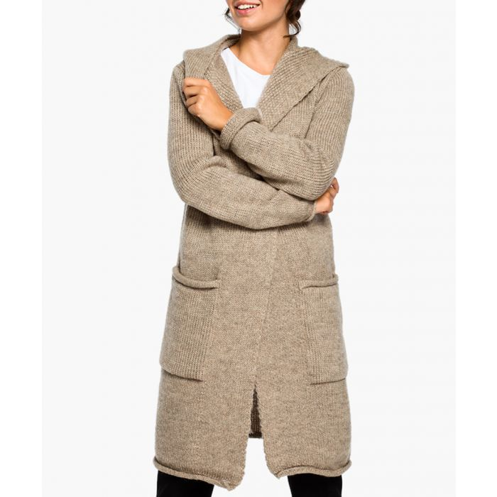 Image for Light brown wool blend cardigan
