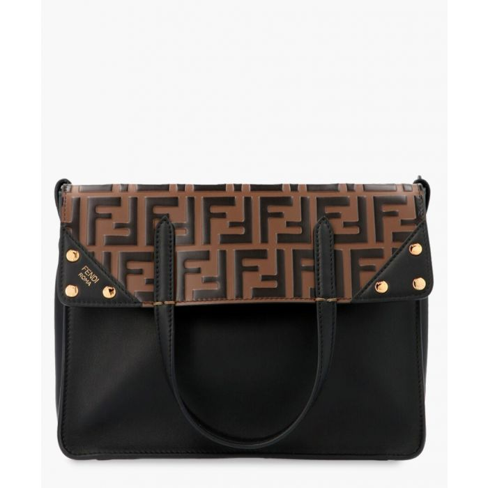 Image for Black embossed leather tote