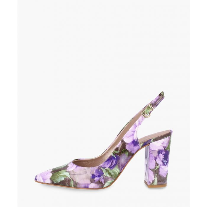 Image for Purple leather heels