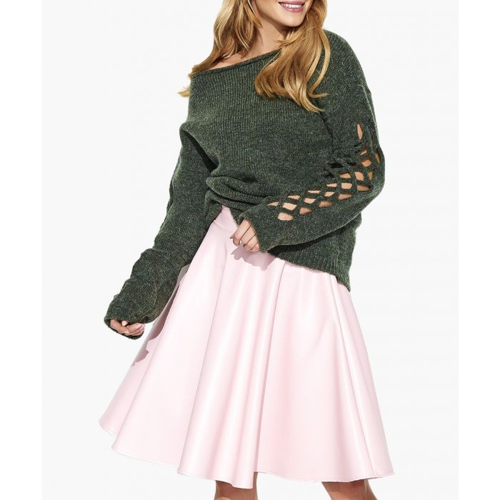 Image for Khaki melange mohair and wool blend knitted sweater
