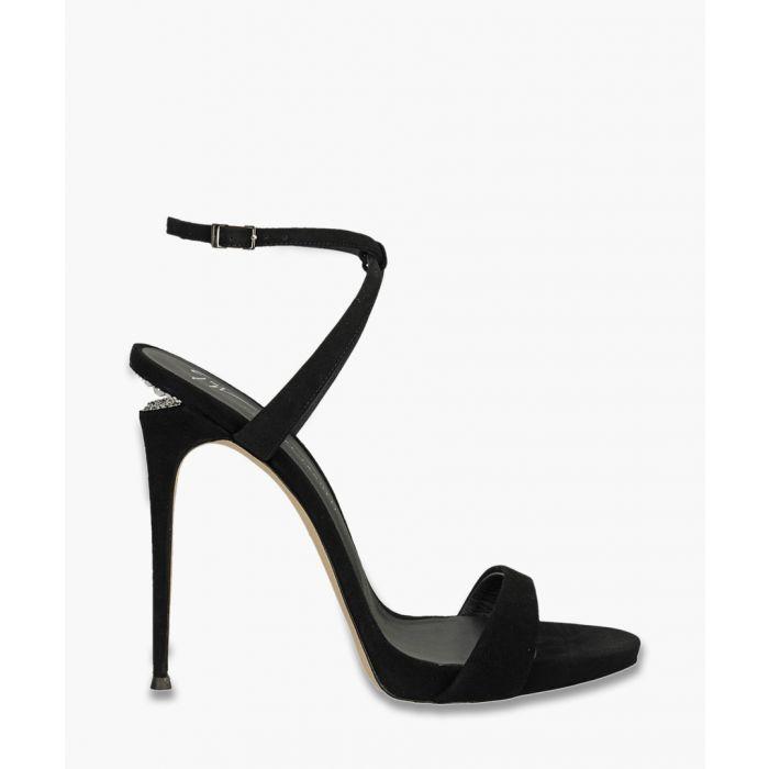 Image for Dionne black satin stilettos