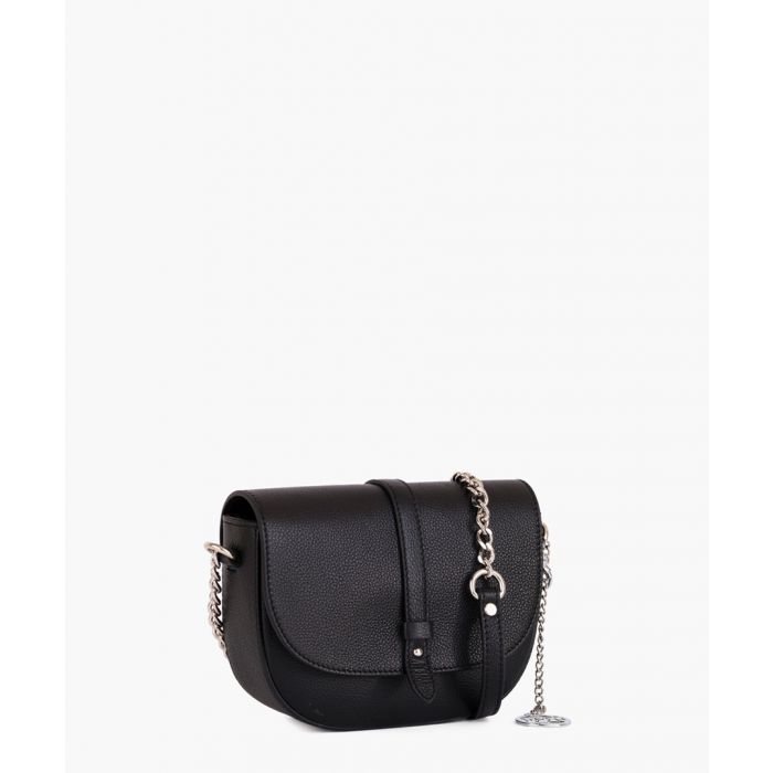 Image for Giusanno black leather crossbody