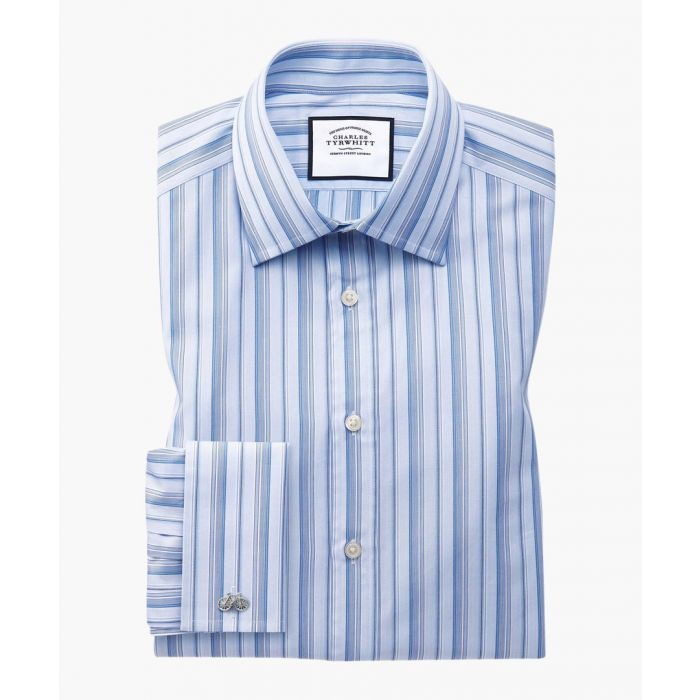 Image for Sky blue Egyptian cotton extra slim fit shirt