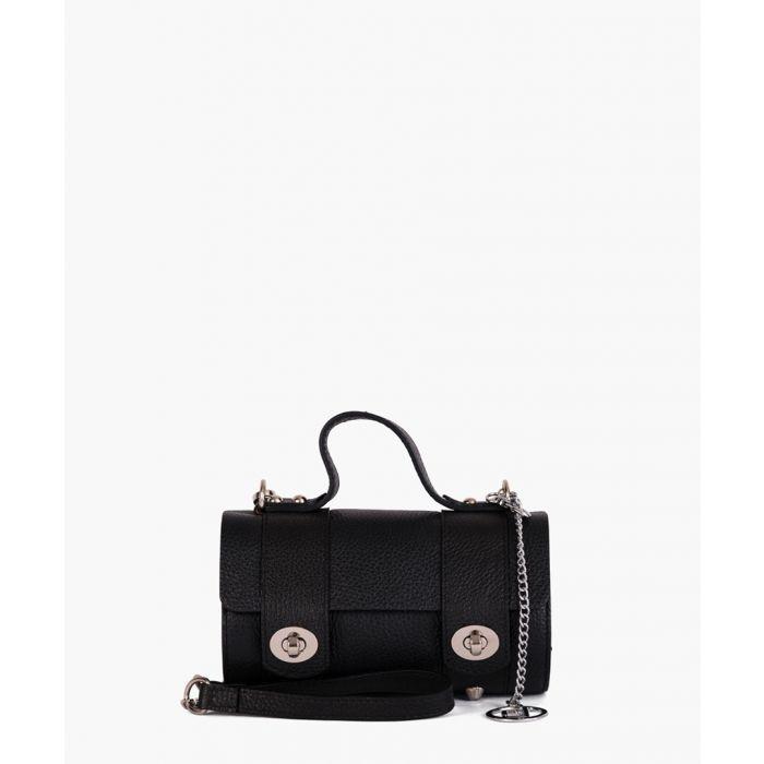 Image for Cerboli black leather satchel