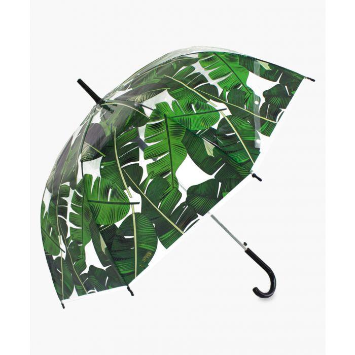 Image for Green palm leaf transparent umbrella