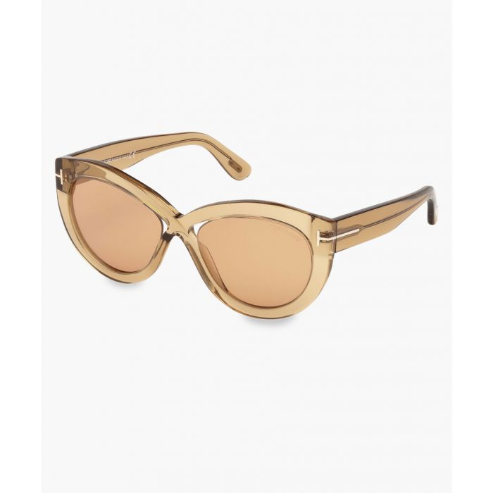 Image for Diane light brown cateye sunglasses