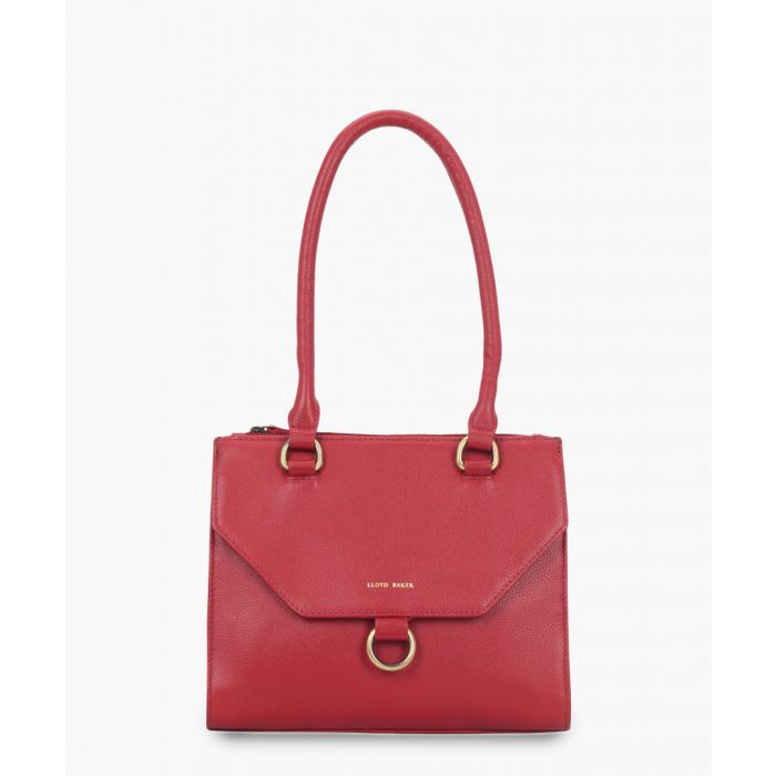Image for Red leather mini crossbody