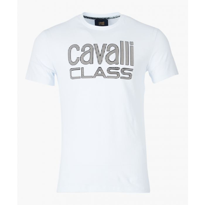 Image for White logo printed T-shirt