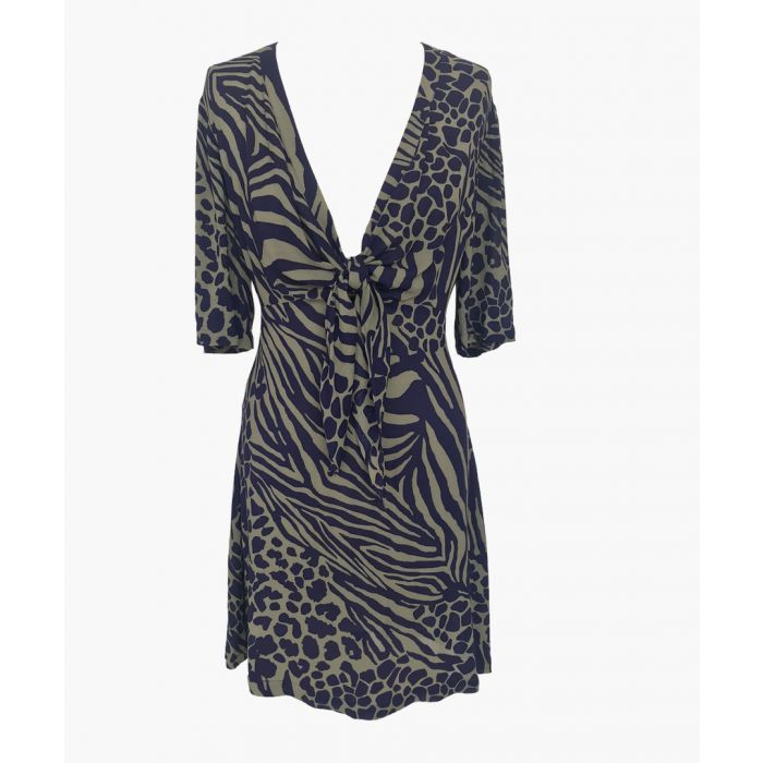 Image for Purple tie-front mini dress