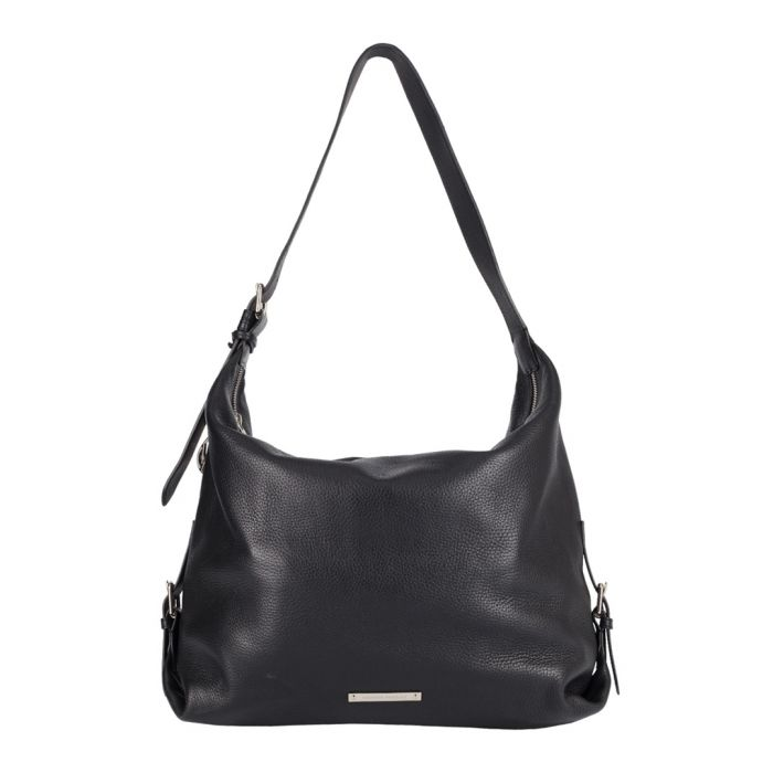 Image for The Costner black leather slouch bag