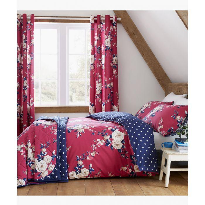 Image for Canterbury plum cotton blend super king duvet set