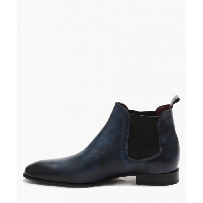 Image for Blue leather ankle boots