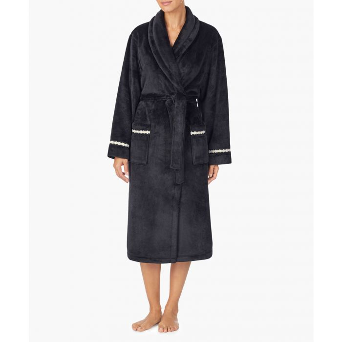 Image for Black trimmed bath robe