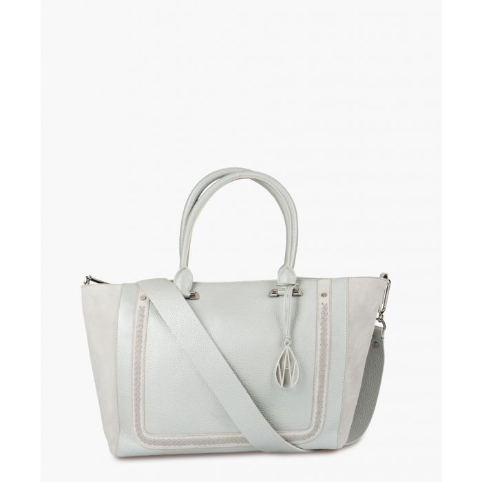 Image for Johansson silver-tone leather tote