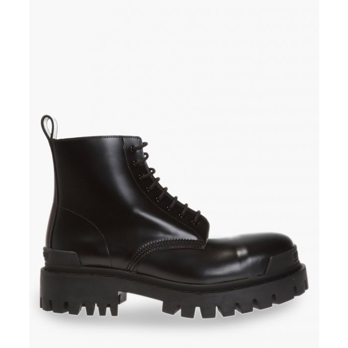 Image for Strike black leather military boots