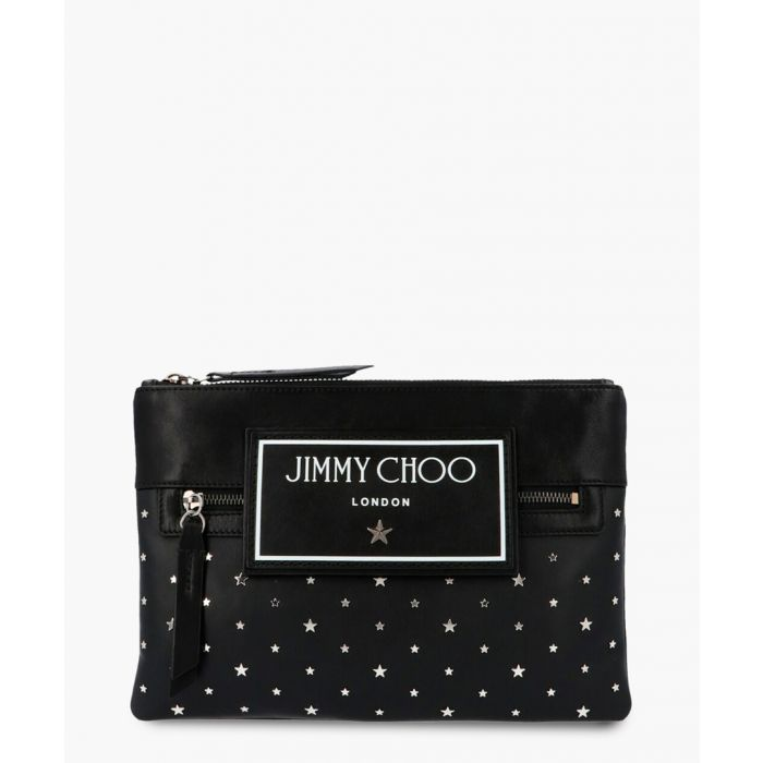 Image for Kimi black leather clutch
