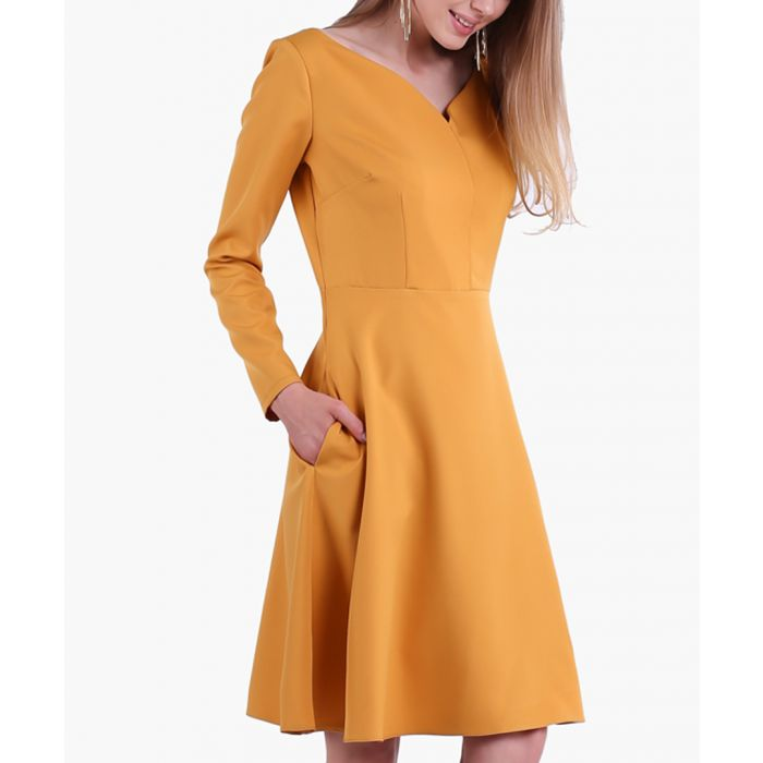 Image for Camel Woven Dress