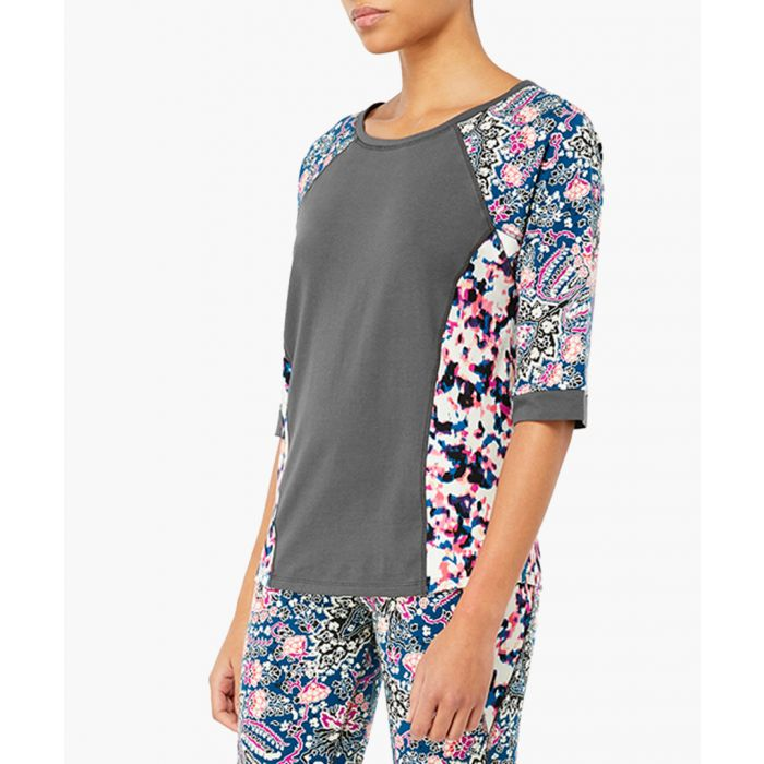 Image for Amelia floral print panel top