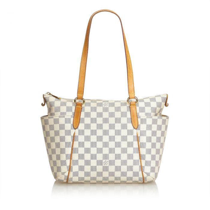 Image for Vintage Louis Vuitton Damier Azur Totally PM White