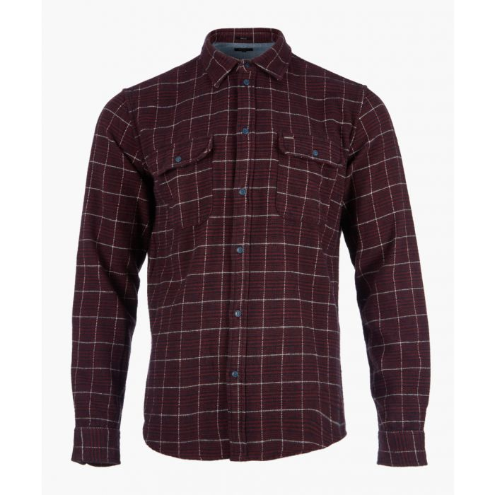 Image for Bordeaux checked button-up shirt