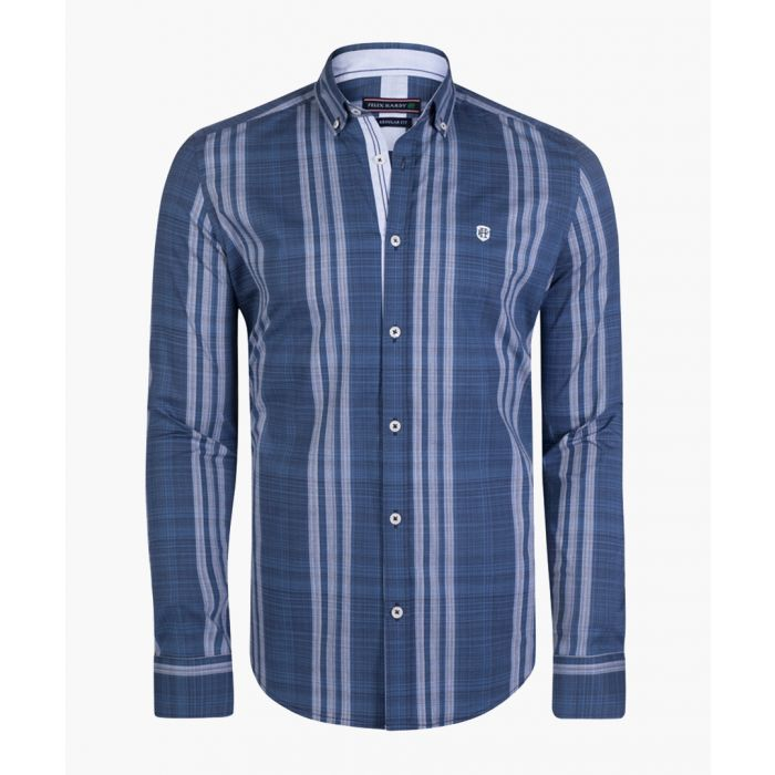 Image for Blue stripe cotton shirt