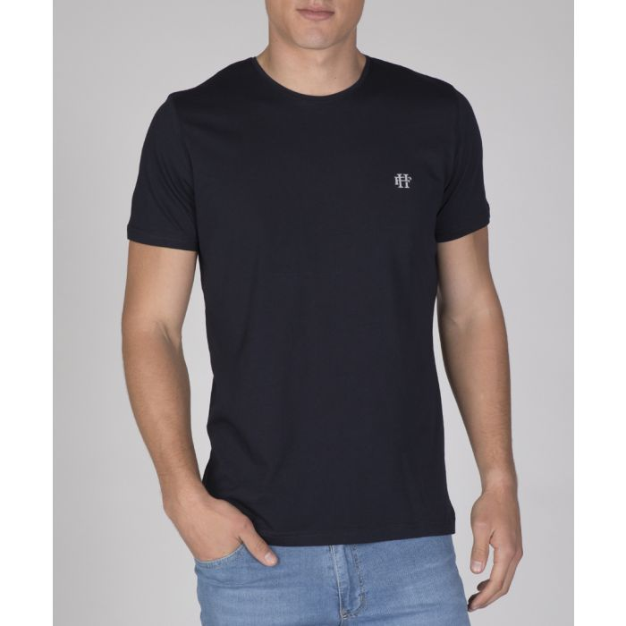 Image for Navy pure cotton T-shirt