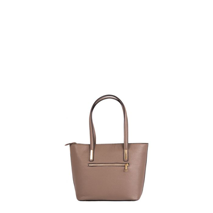 Image for Cesena dark taupe leather shopper