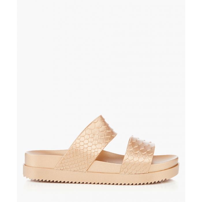Image for Baja gold-tone rubber sandals