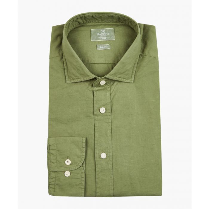 Image for Moss green button-up shirt