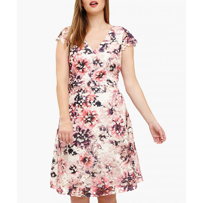 Image for Joselyn pale pink floral dress