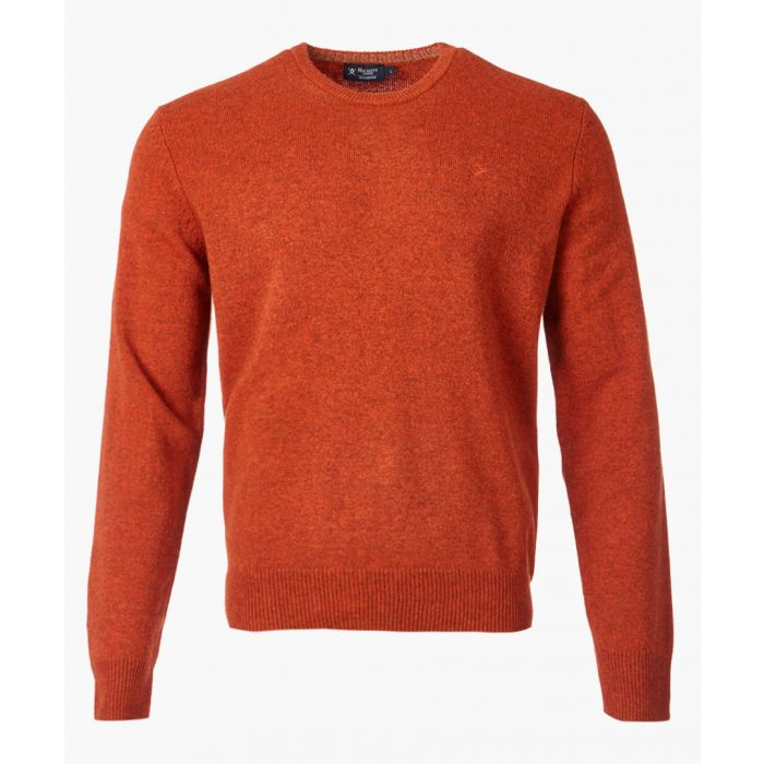 Image for Rustic orange wool crew jumper