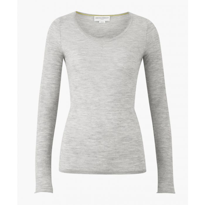 Image for The Monroe grey pure cashmere jumper