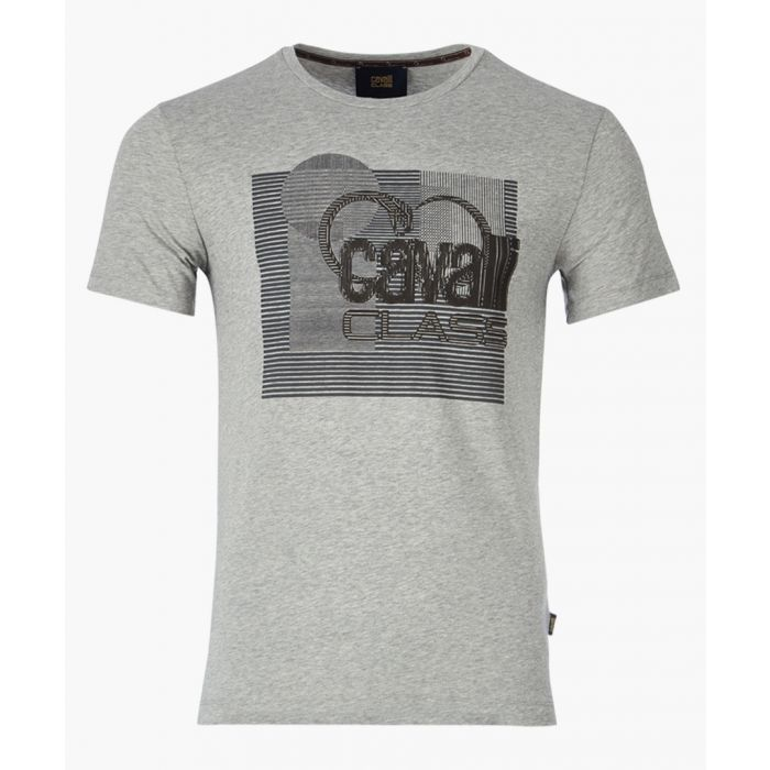 Image for Grey logo printed T-shirt