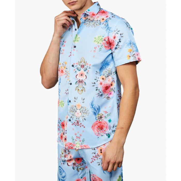 Image for Connor blue floral printed shirt