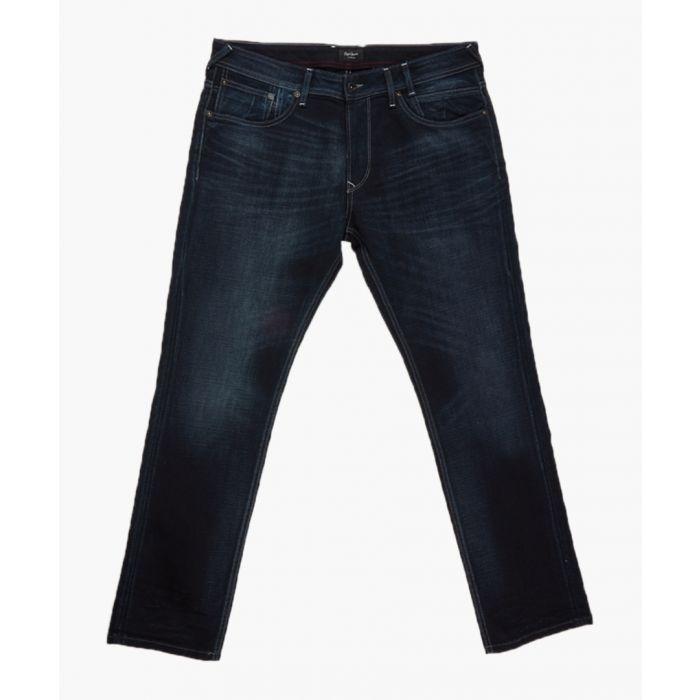 Image for Mid dark denim jeans