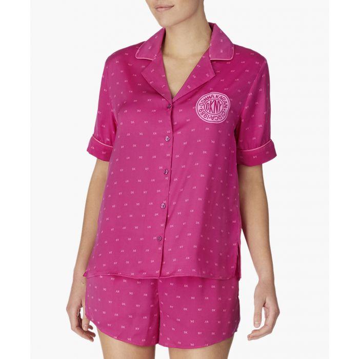 Image for Pink boxer printed pyjama set