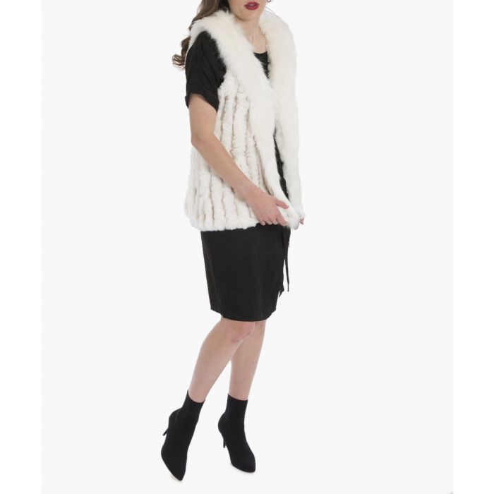Image for White faux fur gilet