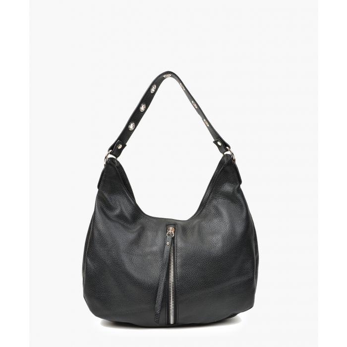 Image for Black leather handbag