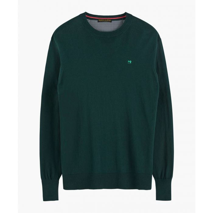 Image for Atlas green classic crew neck jumper