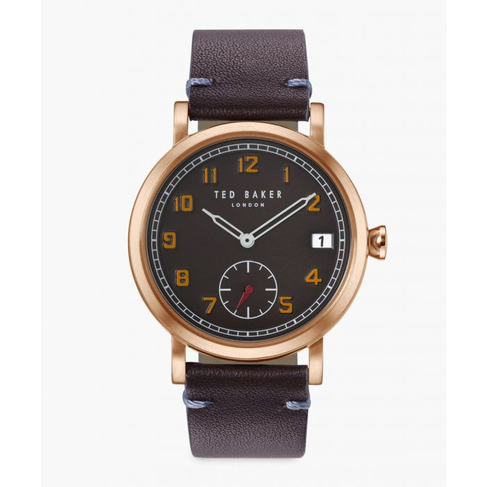 Image for Logan brown leather and stainless steel watch