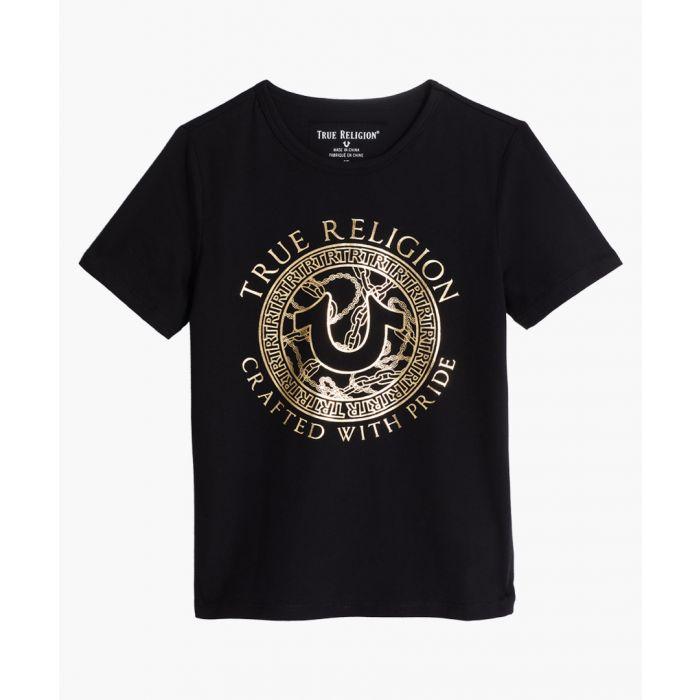 Image for Boys Circle black cotton T-shirt