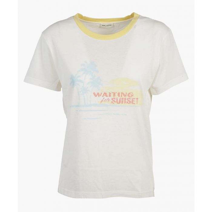 Image for Sunset print cotton T-shirt