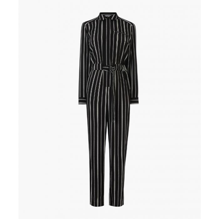 Image for Black striped boilersuit
