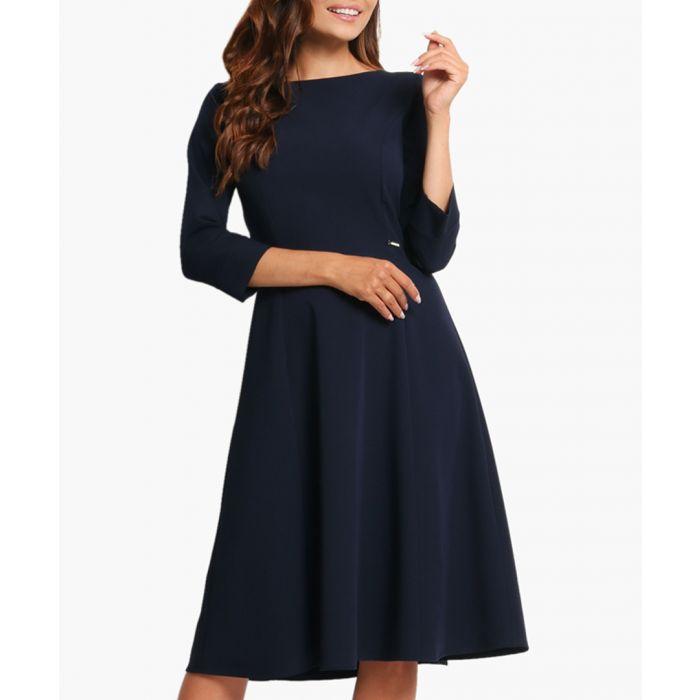 Image for navy skater dress