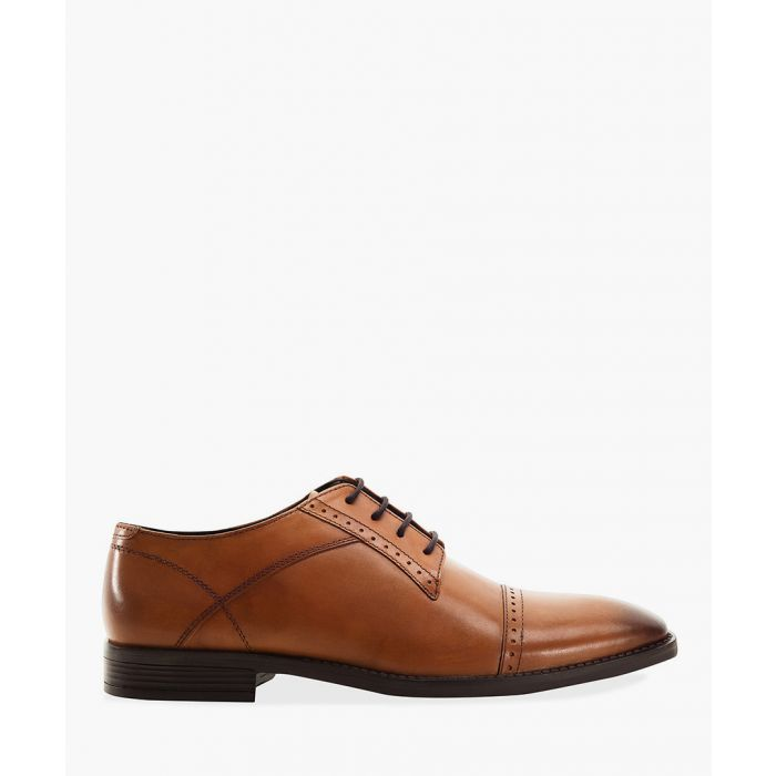Image for Tan toe cap Derby shoes